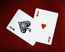 Ace of spades playing card Stock Photos