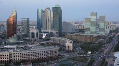 Kazakhstan, Astana, City Skyline - stock footage