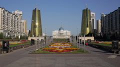 Kazakhstan, Astana, Presidential Palace Stock Footage