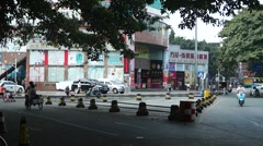 Shenzhen street landscape, in China Stock Footage