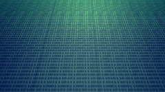 Scrolling blue and green binary code Stock Footage