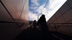 Novosibirsk city. people down in the subway Stock Footage
