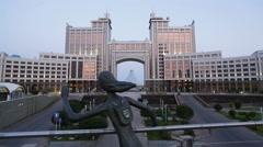 Kazakhstan, Astana, Nurzhol Bulvar Stock Footage