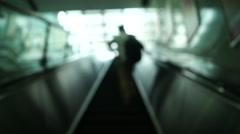 The Shenzhen subway station of the elevator, in China Stock Footage