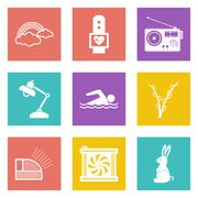 Icons for Web Design set 25 - stock illustration