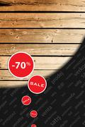 post-season reduction, big sale, background, shopping sprees - stock illustration