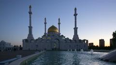 Kazakhstan, Astana, Nur Astana Mosque - stock footage