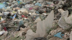 Close shot of a garbage dump_02 Stock Footage