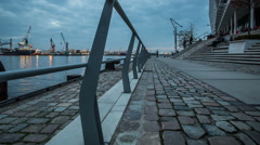 Hamburg harbor district - Hafencity October 2013 - DSLR dolly shot timelapse Stock Footage