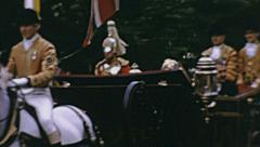 London 1965: President Eduardo Frei Montalva and Queen Elizabeth II Stock Footage
