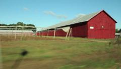 Tobacco Farm Drive Stock Footage