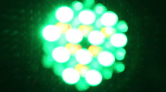 Background of colorful blurred lights in pub or disco Stock Footage