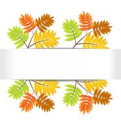 Background for a design with the autumn leaves of wild ash Stock Illustration