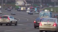 busy traffic timelapse tilt shift - stock footage