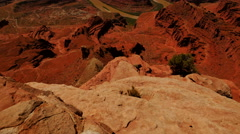 4K Dead Horse Point 02 Tilt Up Colorado River Utah Stock Footage