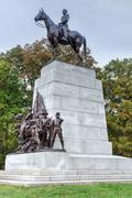 virginia memorial, gettysburg, pa - stock photo