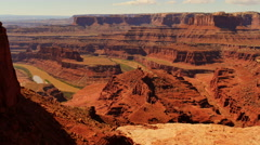 4K Dead Horse Point 04 Colorado River Utah USA Stock Footage