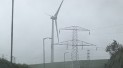 Windmill, Wind turbine in Ireland, Crosshaven Cork Stock Footage