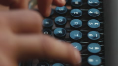 Typewriter and writing Stock Footage