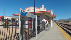 Amtrak Train Station In Kingman, Arizona- Close Up Stock Footage