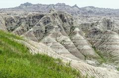 USA, South Dakota, Perkins County, Badlands, Wilderness in American Midwest Stock Photos