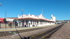 Amtrak Train Station In Kingman, Arizona- Wide Stock Footage