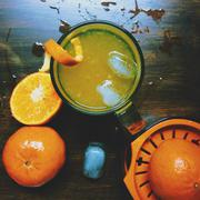 Refreshing tangerineade.Lemonades and limeades are all the rage, but what about - stock photo