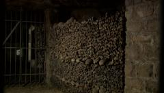 Paris Catacombs  Multiple Clips  Series 2 at 50fps Stock Footage
