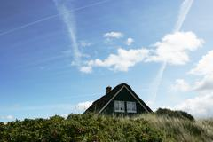Denmark, Top section of summer house - stock photo
