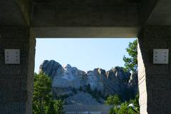 Usa, South Dakota, Mount Rushmore National Memorial Stock Photos