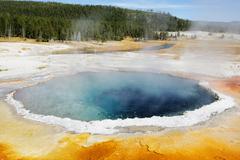 USA, Wyoming, Yellowstone National Park, Hot springs - stock photo