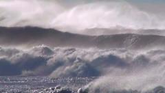 Waves ocean storm sea spray  - stock footage