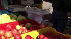 Market Food Apples Stock Footage