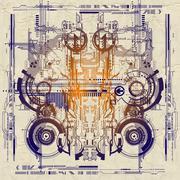 Central processor unit Stock Illustration
