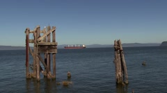 Astoria Cargo Ship Stock Footage