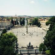 Italy, Rome, Circular courtyard Stock Photos