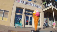 Stock Video Footage of Old Fashioned Ice Cream Parlor In Small Town- Kingman AZ