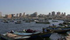Gaza City's port - stock footage
