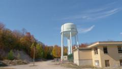 Water Tower at Traverse City State Hospital Stock Footage