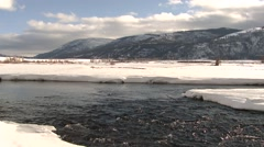 River & Stream Yellowstone National Park Winter Winter Scene Lamar Valley - stock footage