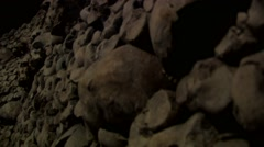 Paris Catacombs  Multiple Clips Series 3 at 50fps Stock Footage