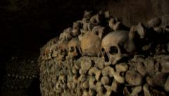 Paris Catacombs  Multiple Clips Series 4 at 50fps Stock Footage