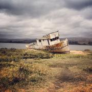 USA, California, Marin County, Old shipwreck Stock Photos