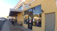 Yoga Studio In Small Town- Kingman Arizona Stock Footage