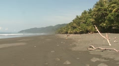 Ocean Corcovado National Park Winter Sandy Beach - stock footage