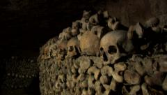 Paris Catacombs  Multiple Clips Series 4 at 59.9fps Stock Footage