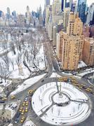 USA, New York City, Hell's Kitchen, San Juan Hill, Columbus Circle, High angle Stock Photos