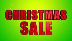 Christmas Sale 3D Looping Animation - 4K UHD Ultra HD Stock Footage