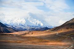 USA, Alaska, Denali National Park, Mount McKinley's snowy peak Stock Photos