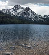 USA, Idaho, Custer County, Custer, Stanley Lake, Mountain Lake Stock Photos